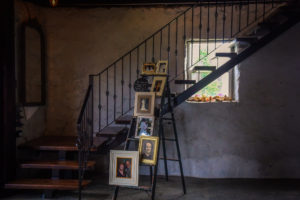 A Remembrance display in the barn